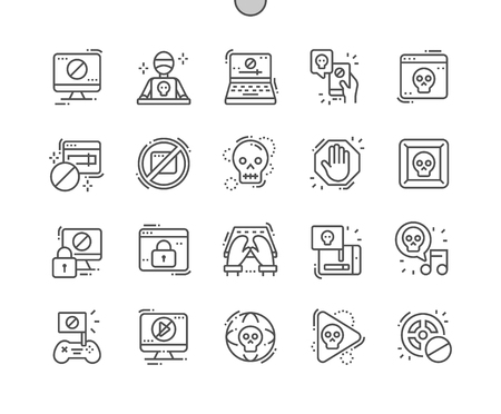 Pirate sites Well-crafted Pixel Perfect Vector Thin Line Icons 30 2x Grid for Web Graphics and Apps. Simple Minimal Pictogram