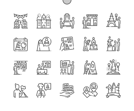 International Day for Monuments and Sites Well-crafted Pixel Perfect Vector Thin Line Icons 30 2x Grid for Web Graphics and Apps. Simple Minimal Pictogram