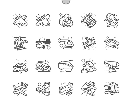 Future air technology Well-crafted Pixel Perfect Vector Thin Line Icons 30 2x Grid for Web Graphics and Apps. Simple Minimal Pictogram Illustration