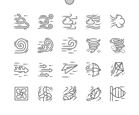 Wind Well-crafted Pixel Perfect Vector Thin Line Icons 30 2x Grid for Web Graphics and Apps. Simple Minimal Pictogram Illustration