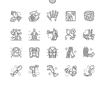 Bioengineering Well-crafted Pixel Perfect Vector Thin Line Icons 30 2x Grid for Web Graphics and Apps. Simple Minimal Pictogram Ilustracja