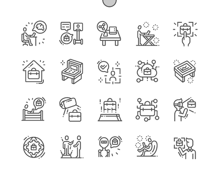 Workspace of the future Well-crafted Pixel Perfect Vector Thin Line Icons 30 2x Grid for Web Graphics and Apps. Simple Minimal Pictogram