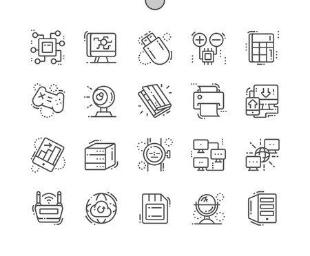 Computer Engineering Well-crafted Pixel Perfect Vector Thin Line Icons 30 2x Grid for Web Graphics and Apps. Simple Minimal Pictogram