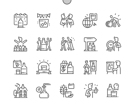 Spirit of Speyside Whisky Festival Well-crafted Pixel Perfect Vector Thin Line Icons 30 2x Grid for Web Graphics and Apps. Simple Minimal Pictogram