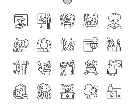 Environmental Education Day Well-crafted Pixel Perfect Vector Thin Line Icons 30 2x Grid for Web Graphics and Apps. Simple Minimal Pictogram 写真素材 - 124065914