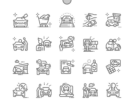 Car shop Well-crafted Pixel Perfect Vector Thin Line Icons 30 2x Grid for Web Graphics and Apps. Simple Minimal Pictogram Reklamní fotografie - 124065918