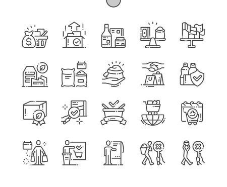 World Fair Trade Day Well-crafted Pixel Perfect Vector Thin Line Icons 30 2x Grid for Web Graphics and Apps. Simple Minimal Pictogram Vectores