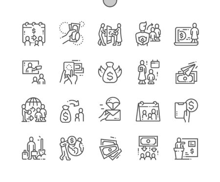 International Day of Family Remittances, IDFR Well-crafted Pixel Perfect Vector Thin Line Icons 30 2x Grid for Web Graphics and Apps. Simple Minimal Pictogram
