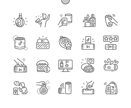 Portable Speaker Well-crafted Pixel Perfect Vector Thin Line Icons 30 2x Grid for Web Graphics and Apps. Simple Minimal Pictogram