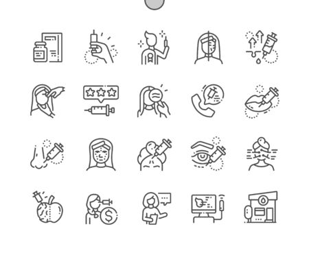 Well-crafted Pixel Perfect Vector Thin Line Icons 30 2x Grid for Web Graphics and Apps. Simple Minimal Pictogram