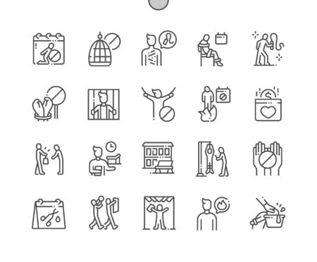 International Day in Support of Victims of Torture Well-crafted Pixel Perfect Vector Thin Line Icons 30 2x Grid for Web Graphics and Apps. Simple Minimal Pictogram