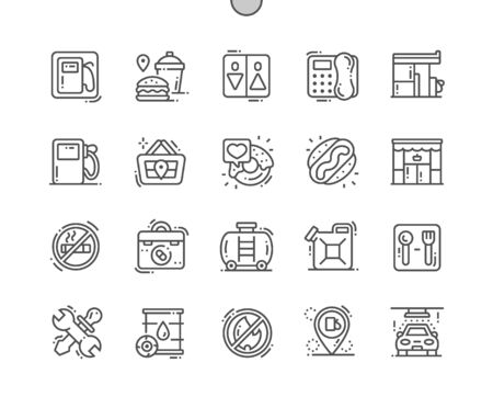 Gas station Well-crafted Pixel Perfect Vector Thin Line Icons 30 2x Grid for Web Graphics and Apps. Simple Minimal Pictogram