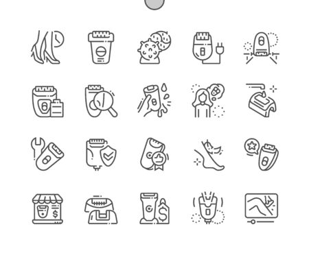 Epilator Well-crafted Pixel Perfect Vector Thin Line Icons 30 2x Grid for Web Graphics and Apps. Simple Minimal Pictogram Banco de Imagens - 127778737