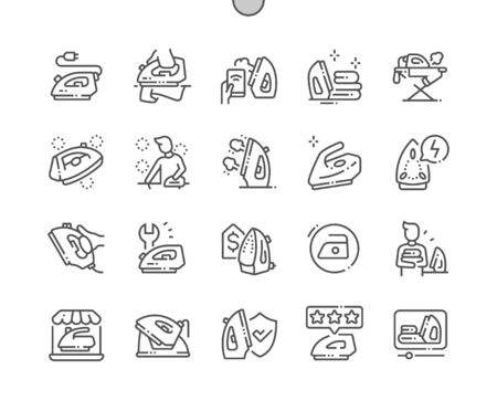 Iron Well-crafted Pixel Perfect Vector Thin Line Icons 30 2x Grid for Web Graphics and Apps. Simple Minimal Pictogram 免版税图像 - 127778739