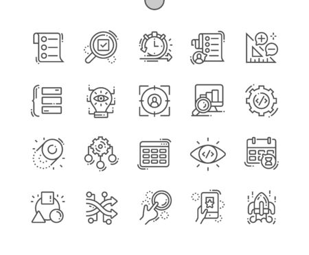Agile development Well-crafted Pixel Perfect Vector Thin Line Icons 30 2x Grid for Web Graphics and Apps. Simple Minimal Pictogram