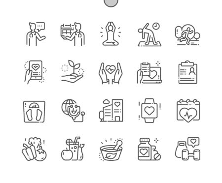 Global Health Care Well-crafted Pixel Perfect Vector Thin Line Icons 30 2x Grid for Web Graphics and Apps. Simple Minimal Pictogram