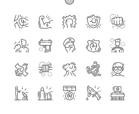 Forse Well-crafted Pixel Perfect Vector Thin Line Icons 30 2x Grid for Web Graphics and Apps. Simple Minimal Pictogram  イラスト・ベクター素材
