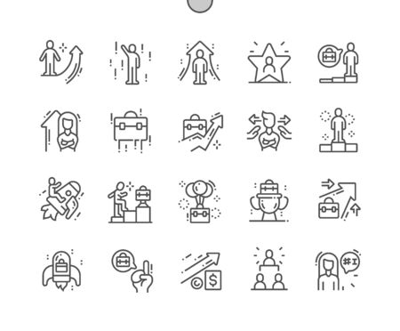 Career path Well-crafted Pixel Perfect Vector Thin Line Icons 30 2x Grid for Web Graphics and Apps. Simple Minimal Pictogram