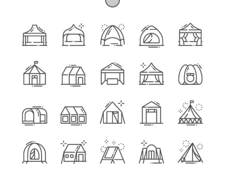 Tent Well-crafted Pixel Perfect Vector Thin Line Icons 30 2x Grid for Web Graphics and Apps. Simple Minimal Pictogram