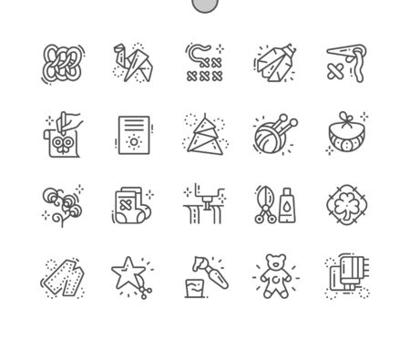 Digital Crafts Well-crafted Pixel Perfect Vector Thin Line Icons 30 2x Grid for Web Graphics and Apps. Simple Minimal Pictogram