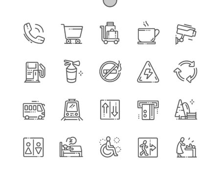 Public signs Well-crafted Pixel Perfect Vector Thin Line Icons 30 2x Grid for Web Graphics and Apps. Simple Minimal Pictogram