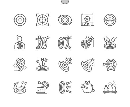 Target Well-crafted Pixel Perfect Vector Thin Line Icons 30 2x Grid for Web Graphics and Apps. Simple Minimal Pictogram
