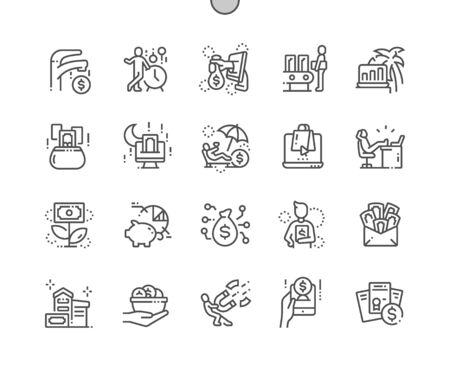 Passive income Well-crafted Pixel Perfect Vector Thin Line Icons 30 2x Grid for Web Graphics and Apps. Simple Minimal Pictogram
