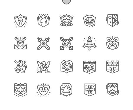 Blazon Well-crafted Pixel Perfect Vector Thin Line Icons 30 2x Grid for Web Graphics and Apps. Simple Minimal Pictogram