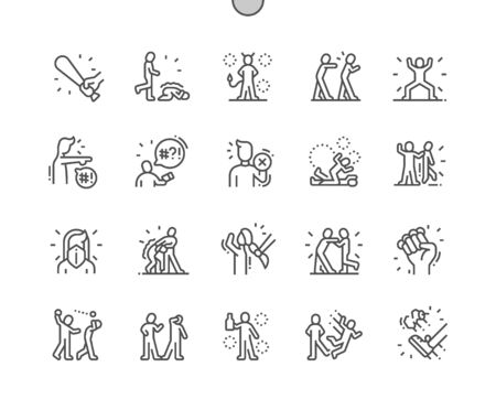Bully Well-crafted Pixel Perfect Vector Thin Line Icons 30 2x Grid for Web Graphics and Apps. Simple Minimal Pictogram