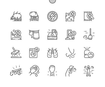 Dust mites Well-crafted Pixel Perfect Vector Thin Line Icons 30 2x Grid for Web Graphics and Apps. Simple Minimal Pictogram