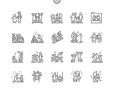 Family Values Well-crafted Pixel Perfect Vector Thin Line Icons 30 2x Grid for Web Graphics and Apps. Simple Minimal Pictogram Stock fotó - 133978885