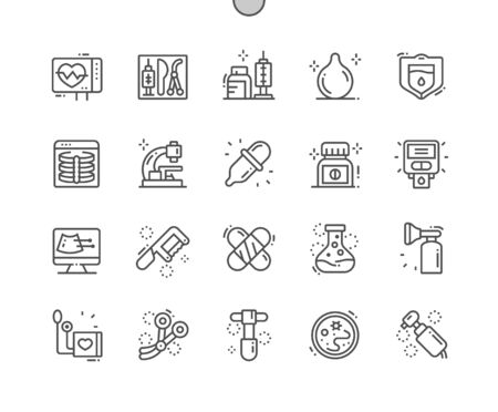 Medical Istruments Well-crafted Pixel Perfect Vector Thin Line Icons 30 2x Grid for Web Graphics and Apps. Simple Minimal Pictogram