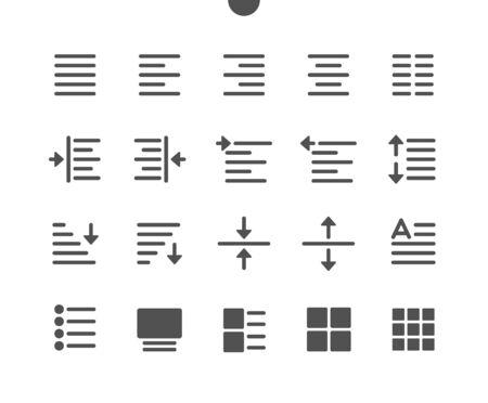 Bearbeiten von Text v1 UI Pixel Perfect Gut gestaltete Vector Solid Icons 48 x 48 Bereit für 24 x 24 Raster für Webgrafiken und Apps. Einfaches minimales Piktogramm Vektorgrafik