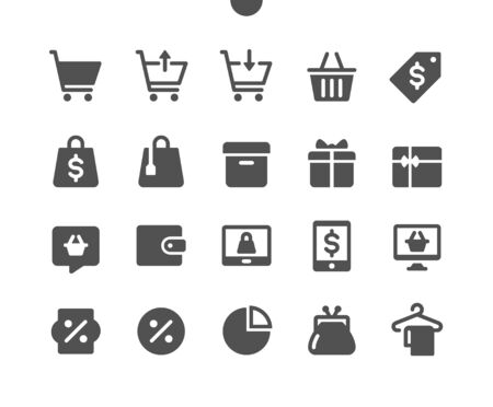 Shopping v2 UI Pixel Perfect Well-crafted Vector Solid Icons 48x48 Ready for 24x24 Grid for Web Graphics and Apps. Simple Minimal Pictogram