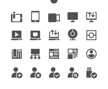 4 Communication v2 UI Pixel Perfect Well-crafted Vector Solid Icons 48x48 Ready for 24x24 Grid for Web Graphics and Apps. Simple Minimal Pictogram Ilustrace