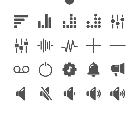 9 Audio_Video v2 UI Pixel Perfect Well-crafted Vector Solid Icons 48x48 Ready for 24x24 Grid for Web Graphics and Apps. Simple Minimal Pictogram