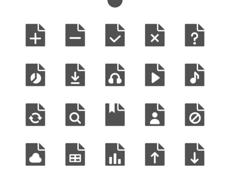 15 File v3 UI Pixel Perfect Well-crafted Vector Solid Icons 48x48 Ready for 24x24 Grid for Web Graphics and Apps. Simple Minimal Pictogram