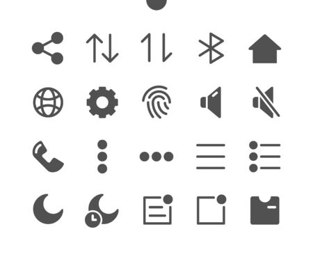 17 Settings v1 UI Pixel Perfect Well-crafted Vector Solid Icons 48x48 Ready for 24x24 Grid for Web Graphics and Apps. Simple Minimal Pictogram