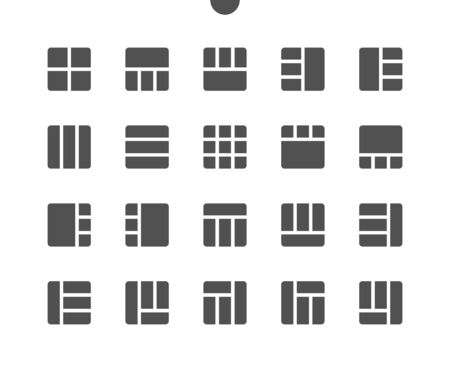 18 Layout v2 UI Pixel Perfect Well-crafted Vector Solid Icons 48x48 Ready for 24x24 Grid for Web Graphics and Apps. Simple Minimal Pictogram