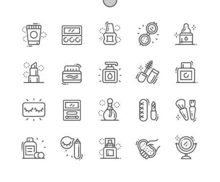Beauty Essentials Well-crafted Pixel Perfect Vector Thin Line Icons 30 2x Grid for Web Graphics and Apps. Simple Minimal Pictogram
