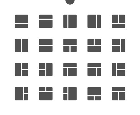 Layout v1 UI Pixel Perfect Well-crafted Vector Solid Icons 48x48 Ready for 24x24 Grid for Web Graphics and Apps. Simple Minimal Pictogram Illusztráció