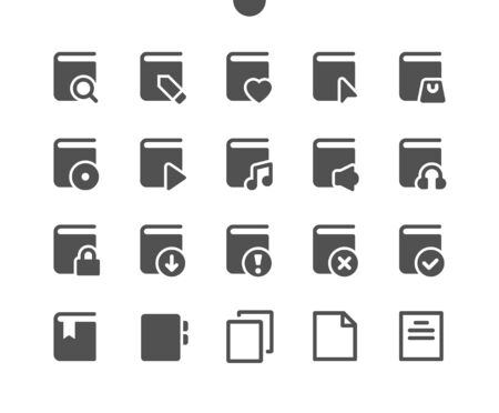 Reading v2 UI Pixel Perfect Well-crafted Vector Solid Icons 48x48 Ready for 24x24 Grid for Web Graphics and Apps. Simple Minimal Pictogram Stock fotó - 134845500
