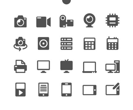 Devices v1 UI Pixel Perfect Well-crafted Vector Solid Icons 48x48 Ready for 24x24 Grid for Web Graphics and Apps. Simple Minimal Pictogram