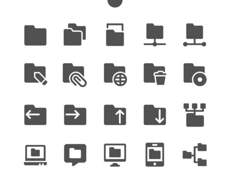 Folders v1 UI Pixel Perfect Well-crafted Vector Solid Icons 48x48 Ready for 24x24 Grid for Web Graphics and Apps. Simple Minimal Pictogram Illusztráció