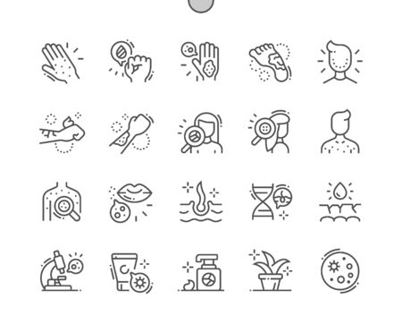 Dermatology Well-crafted Pixel Perfect Vector Thin Line Icons 30 2x Grid for Web Graphics and Apps. Simple Minimal Pictogram
