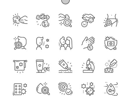Herpes Well-crafted Pixel Perfect Vector Thin Line Icons 30 2x Grid for Web Graphics and Apps. Simple Minimal Pictogram