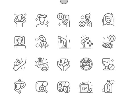 Hepatitis Well-crafted Pixel Perfect Vector Thin Line Icons 30 2x Grid for Web Graphics and Apps. Simple Minimal Pictogram