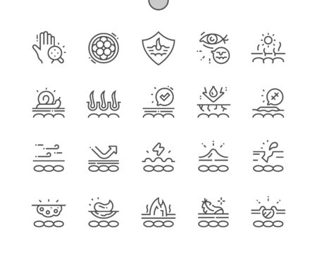 Skin Well-crafted Pixel Perfect Vector Thin Line Icons 30 2x Grid for Web Graphics and Apps. Simple Minimal Pictogram 일러스트