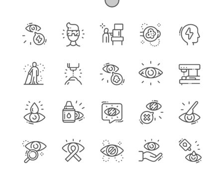Glaucoma Well-crafted Pixel Perfect Vector Thin Line Icons 30 2x Grid for Web Graphics and Apps. Simple Minimal Pictogram