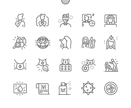 Tonsillitis Well-crafted Pixel Perfect Vector Thin Line Icons 30 2x Grid for Web Graphics and Apps. Simple Minimal Pictogram
